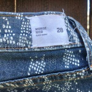 Hudson Jeans Jeans - Hudson 28 Mid Rise Nico Skinny Denim